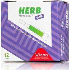 Vican Herb Micro Filter Slim 12τμχ.