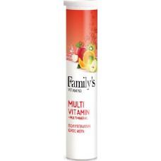 Family's Vitamins MultiVitamin & Multimineral 20 αναβράζοντα δισκία Πορτοκάλι