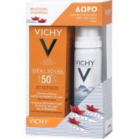 Vichy Ideal Soleil Κρέμα με Βελούδινη Υφή SPF50+ & Ιαματικό Μεταλλικό Νερό 50ml