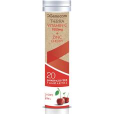 Genecom Terra Vitamin C 1000 mg & Zinc 20 αναβράζοντα δισκία Cherry