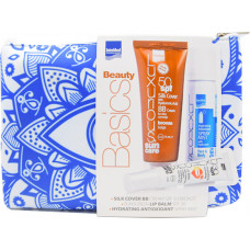Intermed Luxurious Suncare Sun Silk Cover Face Cream Bronze SPF50 75ml, Hydrating Antioxidant Spray Mist 50ml & Hydrating Lip Balm SPF30 15ml