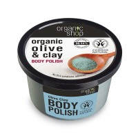 NATURA SIBERICA ORGANIC SHOP BODY POLISH OLIVE & CLAY SCRUB ΣΩΜΑΤΟΣ ΜΕ ΕΛΙΑ & ΑΡΓΙΛΟ 250 ml