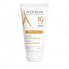 A-Derma Cream Protect SPF50+ Χωρίς Άρωμα 40ml