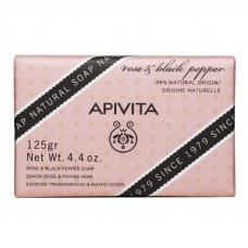 Apivita Rose & Black Pepper Natural Soap 125gr