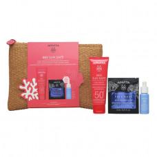 Apivita Bee Sun Safe Hydra Sensitive Soothing Face Cream SPF50+ 50ml New Summer Set