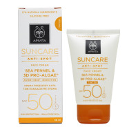 Apivita Suncare Anti-Spot Face Cream Tinted Sea Fennel & 3D Pro-Algae SPF50 50ml