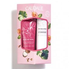 Caudalie Rose De Vigne Set Hand And Nail Cream 30ml & Lip Conditioner 4.5gr