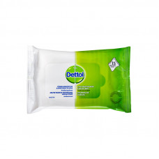 Dettol Υγρά Μαντηλάκια Καθαρισμού 15 μαντηλάκια