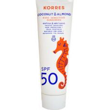 Korres Coconut & Almond Kids Sensitive Sunscreen SPF50 250ml