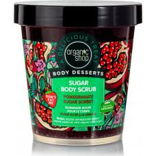 Organic Shop Organic Shop Body Desserts Pomegranate Sugar Sorbet Sugar Body Scrub 450ml
