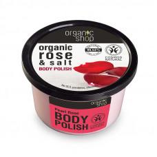 Organic Shop Body Polish Rose and Salt 250ml