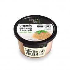 Organic Shop Organic Shop Cane Sugar & Sea Salt Foamy Body Polish 250ml