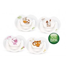 AVENT - Orthodontic Silicone Classic Animals Soother 0-6 M