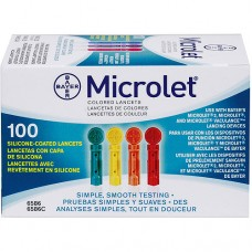 Bayer Ascensia Microlet x 100 Lancets Colored