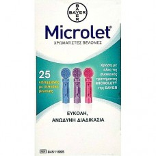 Bayer Ascensia Microlet x 25 Lancets Colored