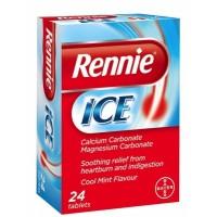 BAYER RENNIE ICE Συμπλήρωμα Διατροφής Με Ασβέστιο & Μαγνήσιο Που Βοηθά Στην Πέψη 24TABS
