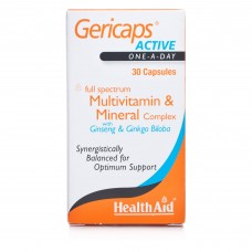 HEALTH AID GERICAPS ACTIVE - GINKGO & GINSENG 30caps