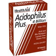 HEALTH AID ACIDOPHILUS PLUS 4 BILLION BLISTER 30vecaps