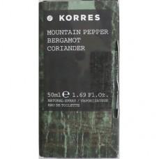 KORRES ΑΝΔΡΙΚΟ ΑΡΩΜΑ MOUNTAIN PEPPER/BERGAMOT/CORIANDER 50ml