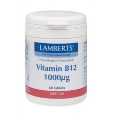 LAMBERTS B12 1000MCG 60tabs (METHILCOBALAMIN)