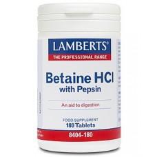 LAMBERTS BETAINE HCI 324MG - PEPSIN 180tabs