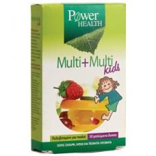 POWER HEALTH MULTI + MULTI KIDS 30μασώμενα δισκία