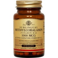 SOLGAR METHYLCOBALAMIN VITAMIN B-12 1000μg 30NUGGETS