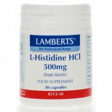 LAMBERTS L-HISTIDINE HCI 500MG 30caps