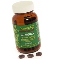 HEALTH AID BILBERRY 275MG 30vetabs