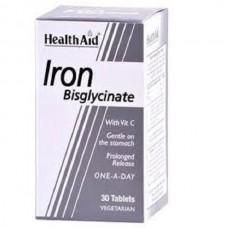 HEALTH AID IRON BISGLYCINATE 30MG 30vetabs