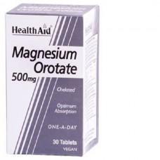 HEALTH AID MAGNESIUM OROTATE 500MG 30vetabs
