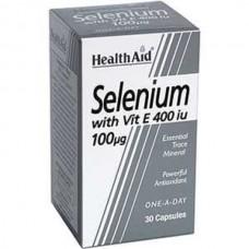 HEALTH AID SELENIUM 100μg + VITAMIN E 400iu 30caps