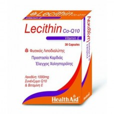 HEALTH AID LECITHIN 1000MG CO-Q10-VITAMIN E 30caps