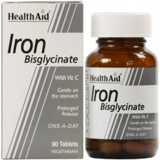 HEALTH AID IRON BISGLYCINATE 30MG 90vetabs
