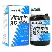 HEALTH AID VITAMIN B12 - CYANOCOBALAMIN 1000μg P.R. 50vetabs