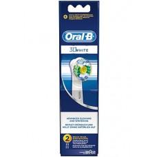 ORAL B REPLACEMENT WHITE & CLEAN 1X2PCS