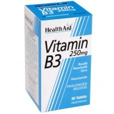 HEALTH AID VITAMIN B3 - NIACINAMIDE 250MG P.R. 90vetabs