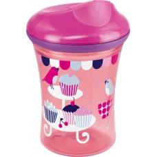 Nuk Easy Learning Vario Cup με Χείλος Ποτηριού 250ml Ροζ, 12m+