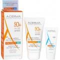A-Derma Protect AC Mattifying Fluid SPF50+ 40ml & AH Repairing Lotion After Sun 15ml