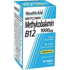 Health Aid Methylcobalamin Metcobin B12 1000mg 60 ταμπλέτες
