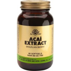 SOLGAR ACAI EXTRACT SOFTGELS 60CAPS