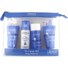 Uriage Baby Travel Kit Cleansing Cream 50ml & Thermal Water 50ml & Cleansing Water 100ml & Moisturising Milk 50ml