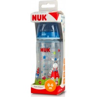 Nuk First Choice Disney Baby Gluck PP Θηλή Σιλικόνης 0-6m Μπλε 300ml