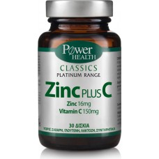 POWER HEALTH CLASSICS PLATINUM ZINC PLUS C 30caps