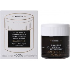 Korres Black Pine Μαύρη Πεύκη 3D Ανόρθωση Περιγράμματος & Ολική Σύσφιγξη Κρέμα Ημέρας για Ξηρές/πολύ Ξηρές Επιδερμίδες 60ml