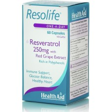 HEALTH AID RESOLIFE RESVERATROL 250MG 60vecaps