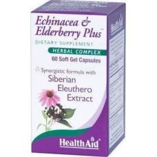 HEALTH AID ECHINACEA +ELDERBERRY PLUS 60caps