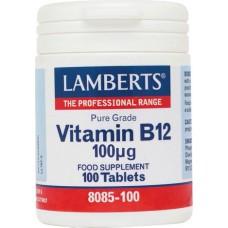 LAMBERTS B12 100mcg 100tabs