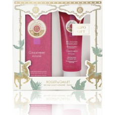 Roger & Gallet Christmas Set Gingembre Rouge Eau Fraiche 50ml & Shower Gel 50ml