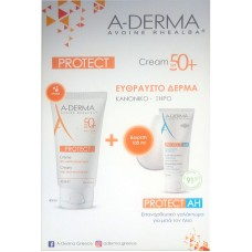 A-Derma Protect Creme Tres Haute Protection SPF50+ 40ml & Protect AH Lait Reparateur Apres Soleil 100ml